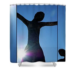Family Of Man Shower Curtain by Lisa Knechtel