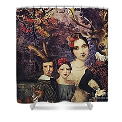 Family Portrait Shower Curtain by Alexis Rotella