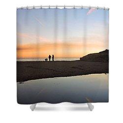 Family Sunset Shower Curtain