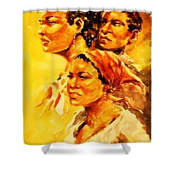 Family Ties Shower Curtain by Al Brown