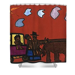 Family Transport Shower Curtain