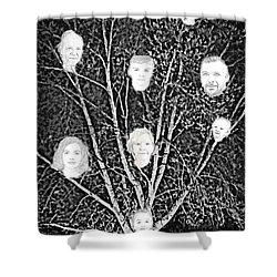 Family Tree Shower Curtain by Diamante Lavendar