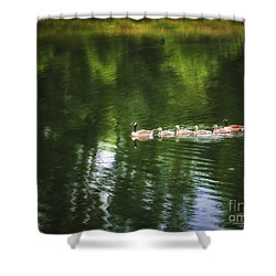 Shower Curtain featuring the photograph Family Values  ... by Chuck Caramella