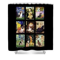 Famous Art Dogs #1 Shower Curtain