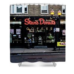Famous Chicago Donut Shop Shower Curtain