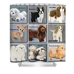 Famous Dogs Shower Curtain by David and Lynn Keller