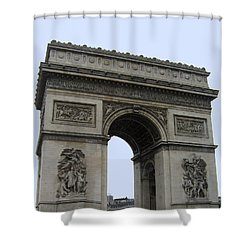 Famous Gate Of Paris - Arc De France Shower Curtain