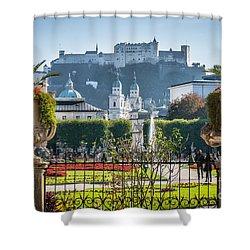 Famous Mirabell Gardens In Salzburg Shower Curtain
