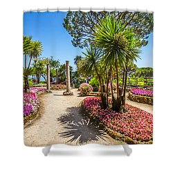 Famous Villa Rufolo Gardens In Ravello At Amalfi Coast, Italy Shower Curtain