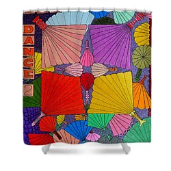 Fan Dance 2 Shower Curtain