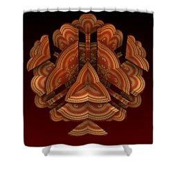 Shower Curtain featuring the digital art Fan Dance by Lyle Hatch