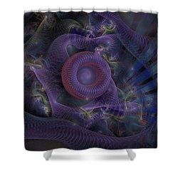 Shower Curtain featuring the digital art Fan Dancer - Fractal Art by NirvanaBlues