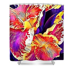 Shower Curtain featuring the photograph Fanciful Canna  by Heidi Smith