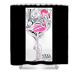 Fanciful Flamingo Shower Curtain