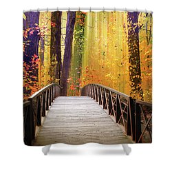 Shower Curtain featuring the photograph Fanciful Footbridge by Jessica Jenney