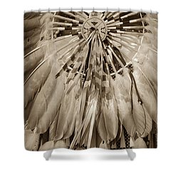 Fancy Dancer Male Sepia Shower Curtain