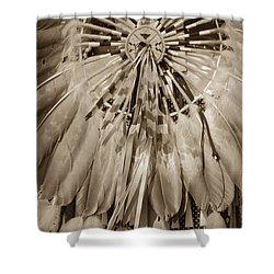 Fancy Dancer Male Sepia Shower Curtain