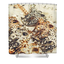 Fancy Dress Timepieces Shower Curtain