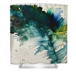 Fancy Feather Shower Curtain