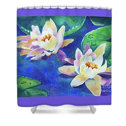 Fancy Waterlilies Shower Curtain by Kathy Braud