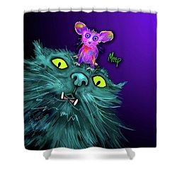 Fang And Meep  Shower Curtain
