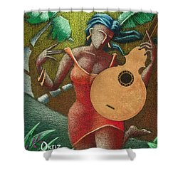 Fantasia Boricua Shower Curtain