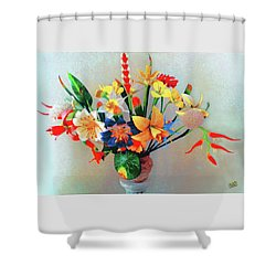 Fantastic Flowers Of The South Pacific Shower Curtain