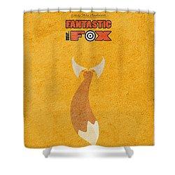 Fantastic Mr. Fox Shower Curtain by Ayse Deniz