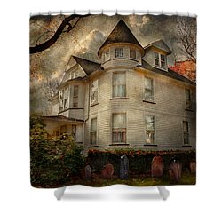 Fantasy - Haunted - The Caretakers House Shower Curtain by Mike Savad