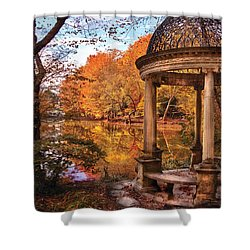 Fantasy - The Temple Shower Curtain by Mike Savad