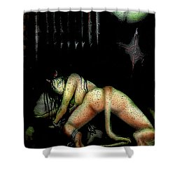Shower Curtain featuring the painting Fantasy 3 by Tbone Oliver
