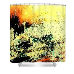 Fantasy Abstract Created Artwork    Shower Curtain