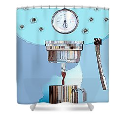 Fantasy Espresso Machine Shower Curtain