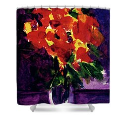 Fantasy Flowers  #107, Shower Curtain by Donald k Hall