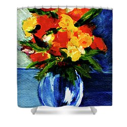 Fantasy Flowers #117 Shower Curtain by Donald k Hall