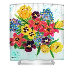 Fantasy Flowers #233 Shower Curtain by Donald k Hall