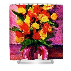 Fantasy Flowers Still Life #118, Shower Curtain by Donald k Hall