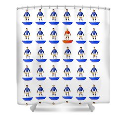 Fantasy Football Team Shower Curtain by John Colley