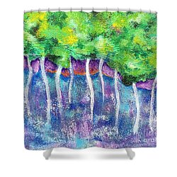 Fantasy Forest Shower Curtain by Elizabeth Fontaine-Barr