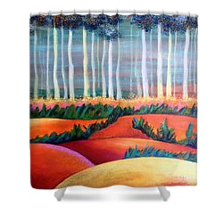 Through The Mist Shower Curtain by Elizabeth Fontaine-Barr