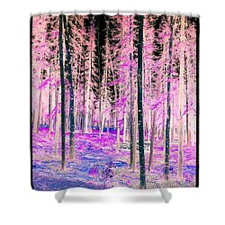 Fantasy Forest Shower Curtain by Linda Bianic