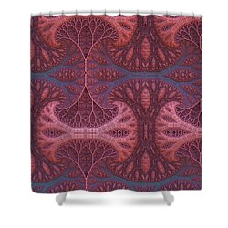 Shower Curtain featuring the digital art Fantasy Forest by Lyle Hatch