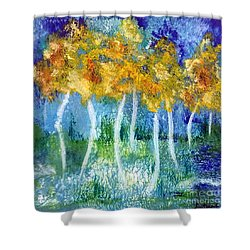 Fantasy Glade Shower Curtain by Elizabeth Fontaine-Barr