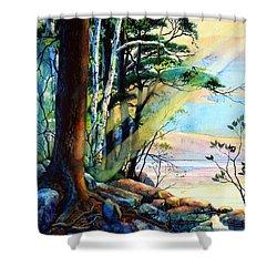 Fantasy Island Shower Curtain by Hanne Lore Koehler