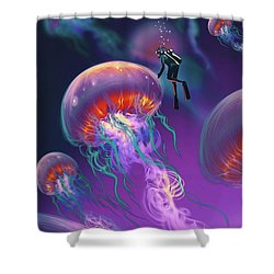 Fantasy Underworld Shower Curtain