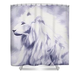 Fantasy White Lion Shower Curtain