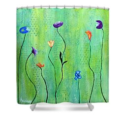 Far A Field Shower Curtain