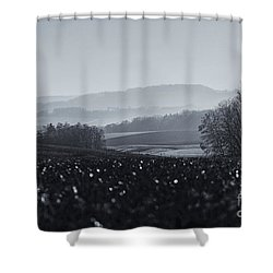 Far Away, The Misty Mountains Cold Shower Curtain
