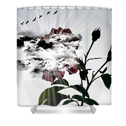 Far Beyond What Eyes Can See Shower Curtain