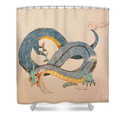 Far East Wind Walker Shower Curtain